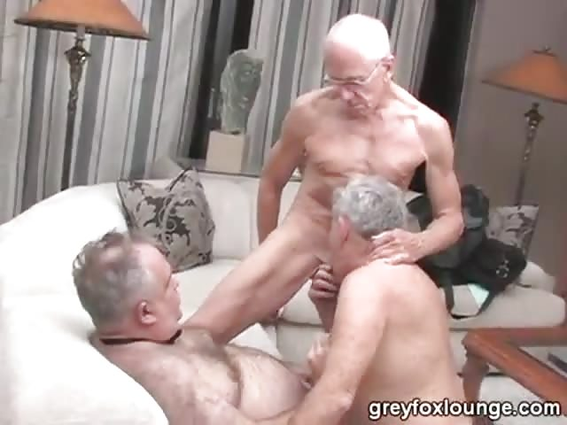 Older gay men having sex