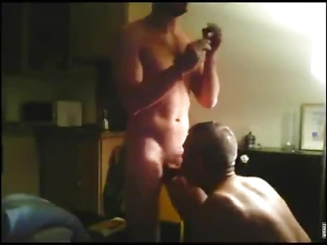 Amateur black studs try oral sex